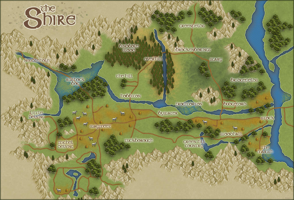 Map of the Shire | The Laurelin Archives